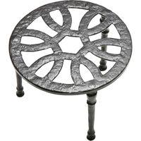 Black Antique Ironwork Fireside Kettle Stand 108mm 1162