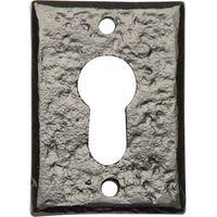 Black Antique Ironwork EURO Profile Keyhole Cover 1400