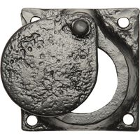 Black Antique Ironwork Cylinder Cover Plate 58x58mm 1498