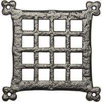 Black Antique Ironwork Square Door Grille 171x171mm 2175