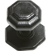 Black Smooth Iron Front Door Knob 3370