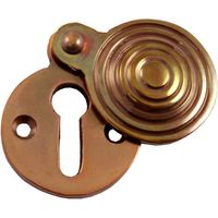 Solid Bronze Reeded Keyhole Cover 31mm Diameter