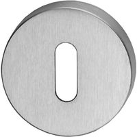 Matt Chrome Round Key Hole Cover 52mm