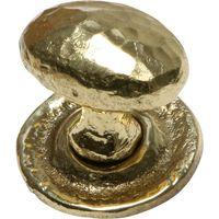 Antique Cast Brass Range Cabinet Knob 1195