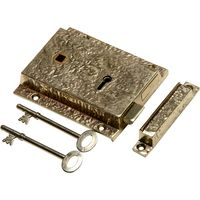 Antique Cast Brass Range Rim Lock 1204