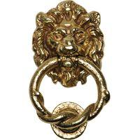 Antique Cast Brass Range Lion Front Door Knocker 100mm 4896