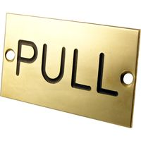 Brass Engraved Sign Pull 75x40mm