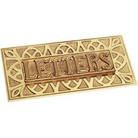 Solid Brass Embossed Letter Box 241x114mm
