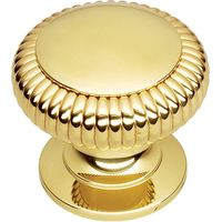 Solid Brass Fluted Front Door Knob 76mm