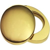 Polished Brass Plain Front Door Cylinder Cover Plate