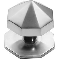 Matt Chrome Carousel Front Door Knob 67mm