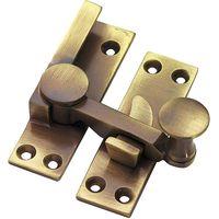 Brass Antiqued Finish Quadrant Fastener 67mm