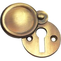 Brass Antiqued Finish Covered Keyhole Cover 32mm