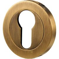 Brass Antiqued Finish EURO Keyhole Cover 50mm