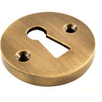 Brass Antiqued Finish Heavy Open Keyhole Cover 38mm