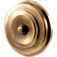 Brass Antiqued Finish Circular Door Bell 108mm