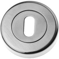 Polished Pewter Slotted Escutcheon 53mm
