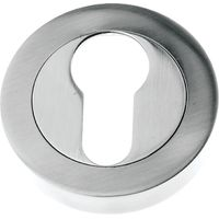 Polished Pewter Finish Euro Escutcheon 50mm