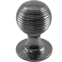 Polished Pewter Reeded Cupboard Knob