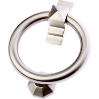 Satin Nickel Ring Front Door Knocker 105mm