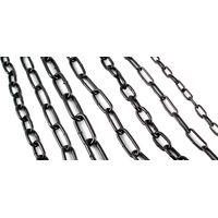 Straight Linked Chain Black Japanned in Metres