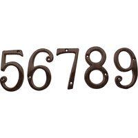 Dark Bronze House Numbers 0-9 75mm (3in)