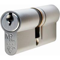 Matt Chrome 3* Euro Profile Double Cylinder
