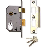 Assa Abloy 65mm Mortice Sashlock Case Oval Profile Matt Chrome