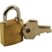 Solid brass padlock 25mm