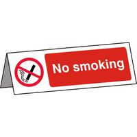 No Smoking Desk Notice 150x50mm