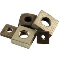 Pack of 10 Square Nuts BSW Thread