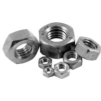 Pack of 10 Stainless Hex Nuts