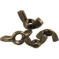Pack of 10 Wing Nuts Steel BSW