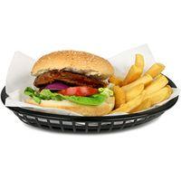 Classic Oval Food Basket Black 24x15x5cm (Case of 36)