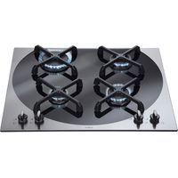 CDA 4Q4SS 60cm Designer Gas Hob in Stainless Steel with 5Yr Parts Guarantee