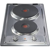 CDA HCE340SS Domino 2 Plate Electric Hob   Stainless Steel