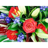 Colourful Funeral Posy
