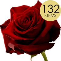 132 Red Roses