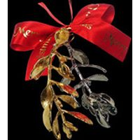 A 24kt Gold and Platinum dipped Sprigs of Christmas Mistletoe