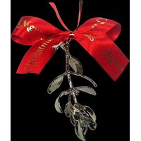 A Platinum dipped Sprig of Christmas Mistletoe