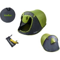 2 Person Pop Up Tent With Carry Bag, Green/Grey