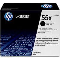 HP 55X Laserjet Printer Ink Toner Cartridge CE255X, Black
