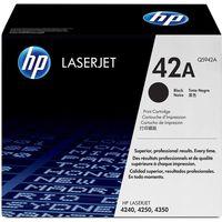 HP 42A Laserjet Printer Ink Toner Cartridge Q5942A, Black