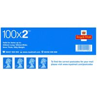 2nd Class Postage Stamps Sheet of 100 *