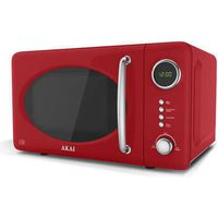 Akai A24006R Microwave Oven in Red 700W 20L Digital 3yr Gtee