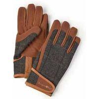 Mens Tweed Garden Gloves - Gift - 1 pair of gardening gloves