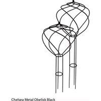 Chelsea Metal Obelisk (Black) - 1 small obelisk (black)
