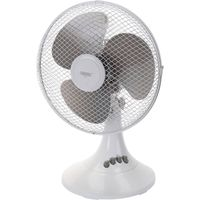 "Draper FAN2C 3 Speed Desk Fan 12"" / 300mm 240v"