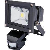 Draper COB LED Floodlight with Passive InfraRed Detector 10w 240v