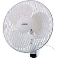 """Draper 75098 Remote Controlled Wall Mounted Fan 16"""" 240v"""